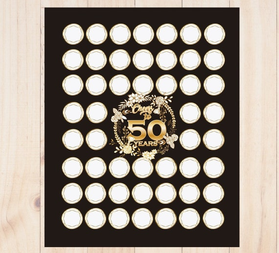 50th Birthday Gift For Women Guest Book Party Decorations Printable Mom