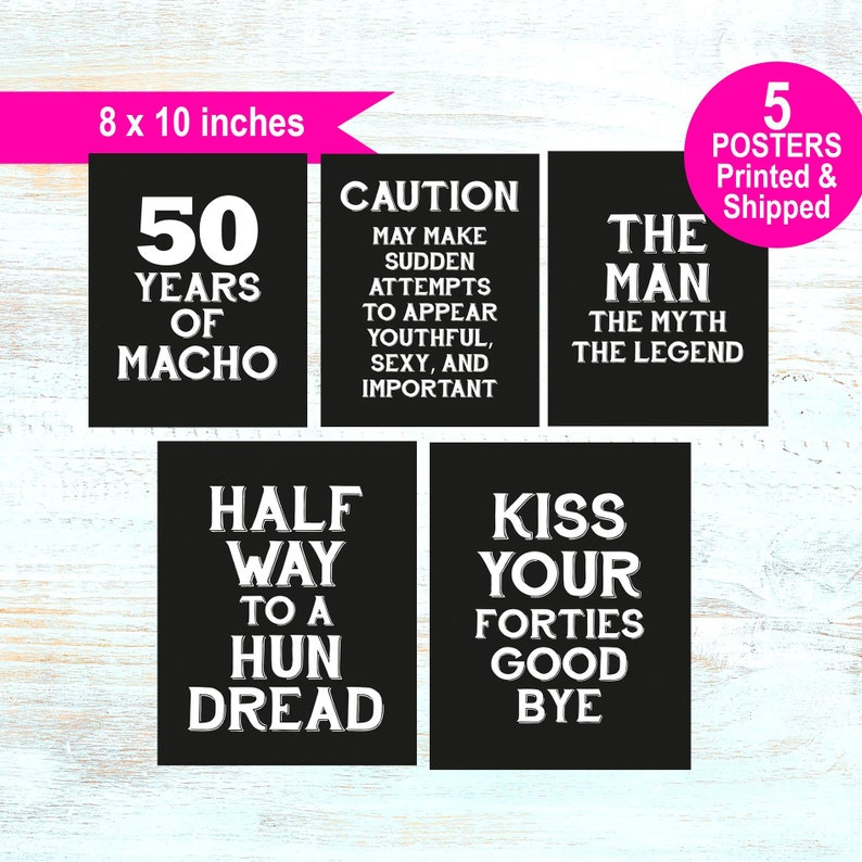50th Birthday Decorations For Men Party