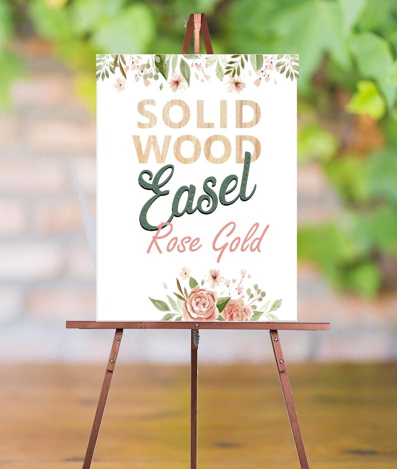 Rose Gold Easel for Wedding Easel Floor