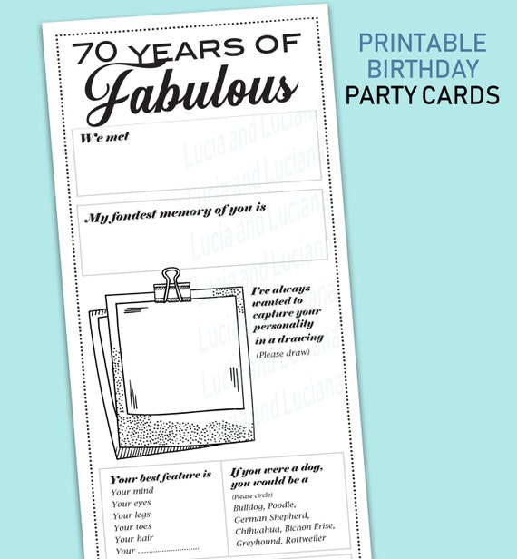 70th Birthday Cards For Her Party Games Ideas Decoration Women