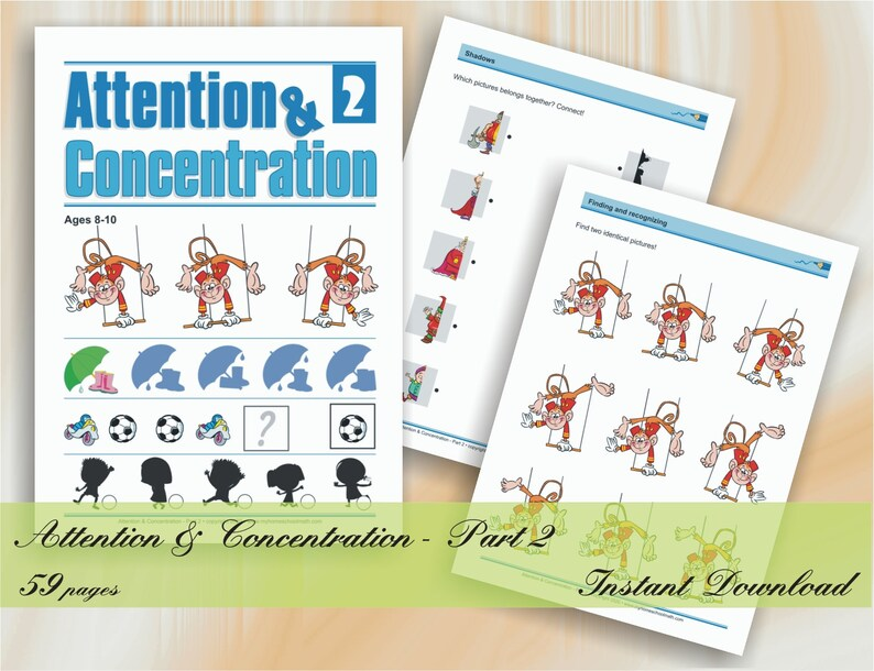 Attention & Concentration  Part 2 age 8-10  59 printable image 0