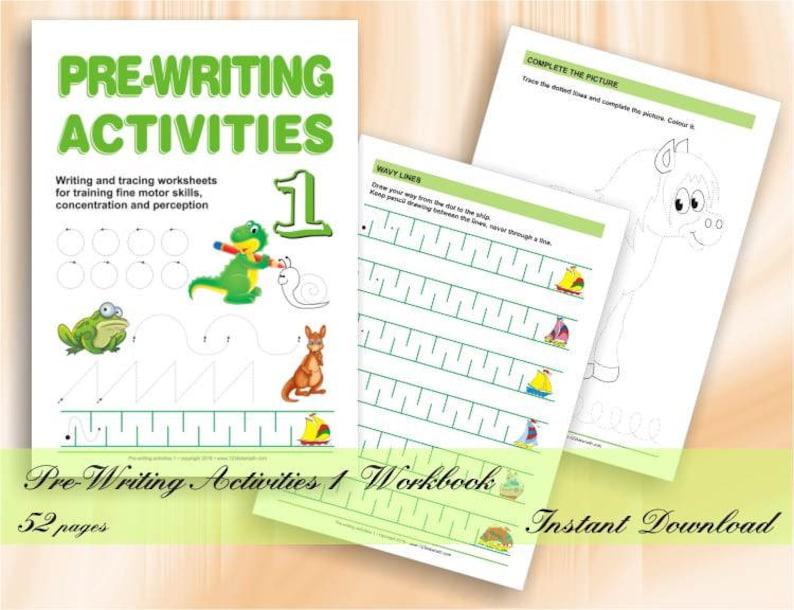 Pre-Writing Activities for Preschool & Kindergarten  49 image 0