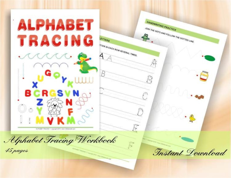 Alphabet Tracing  Worksheets for preschool and kindergarten  image 0