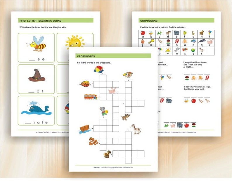 Alphabet Tracing | Worksheets for preschool and kindergarten - Download  Digital Printable Workbook