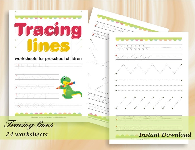 Tracing Lines   Pre-Write Practice Line Tracing for preschool image 0