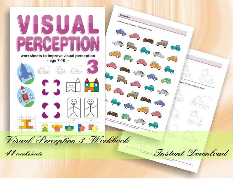 Visual Perception Activities  41 printable worksheets with image 0