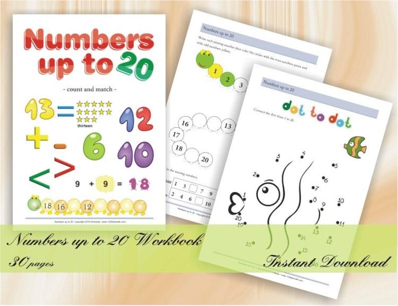 Numbers up to 20 for kindergarten and school children  image 0