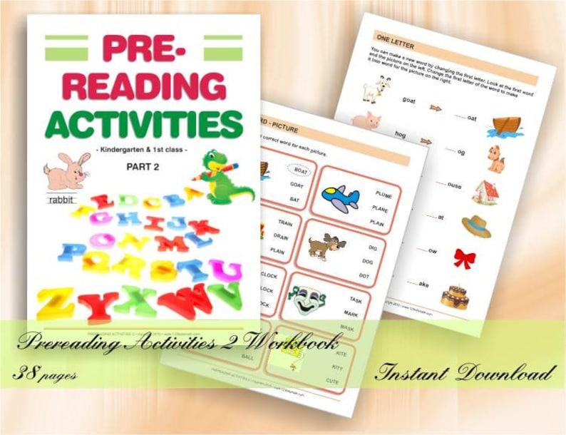 Prereading activities 2  Preschool & Kindergarten Worksheets image 0