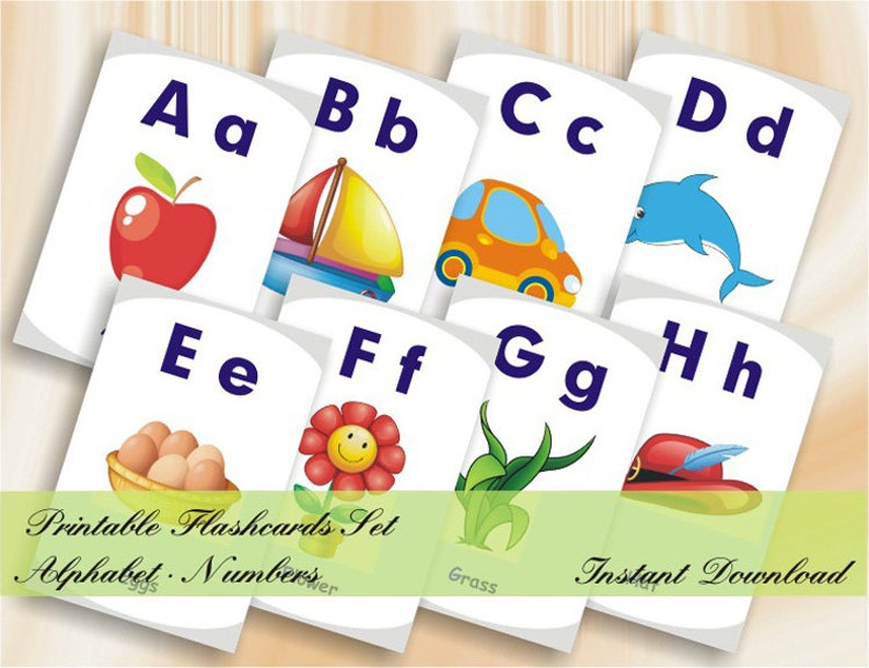 photo relating to Abc Flash Cards Printable referred to as ABC Flashcards 123 Flashcards - Printable Alphabet Selection Flashcards established - Immediate Down load