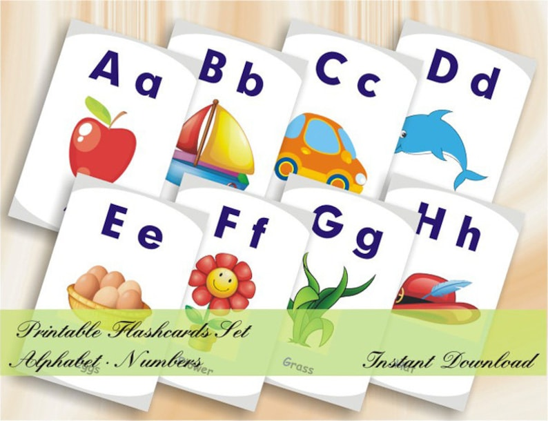 photograph relating to How to Make Printable Flashcards called ABC Flashcards 123 Flashcards - Printable Alphabet Quantity Flashcards fixed - Quick Down load