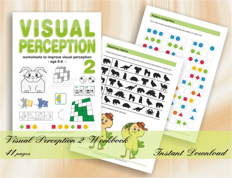 Visual Perception Activities Part 2  43 printable worksheets image 0
