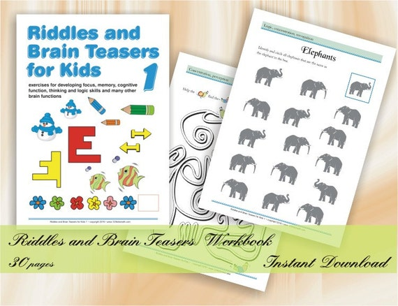 photo regarding Riddles for Kids Printable identified as Riddles and Head Teasers for small children (age 5-8) Worksheets with Printable Puzzles, Logic video games, Mazes, Dissimilarities