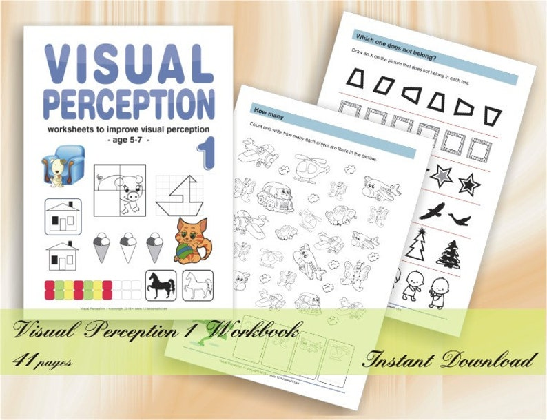 Visual Perception Activities  40 printable worksheets image 0