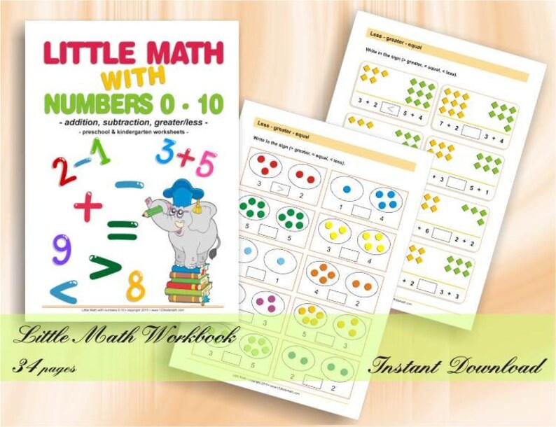 Little Math with Numbers 0-10  Preschool & Kindergarten Math image 0