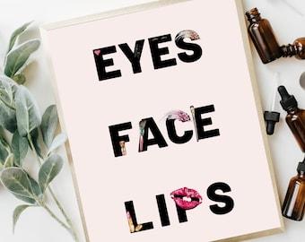 Eyes Face Lips Poster | Beauty