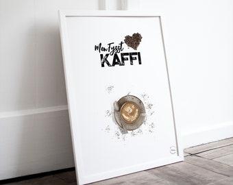 Men fysst Kaffi | Stavangersk  | Norsk Plakat
