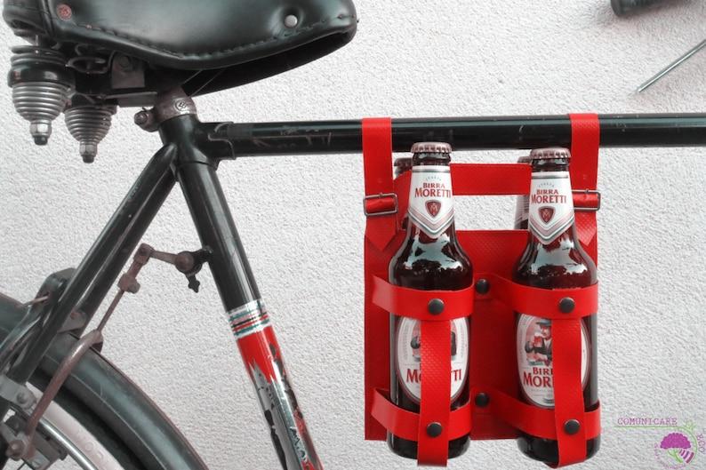 Bottle holder 33 cl // bring bike beers // BeerBike // red // Red