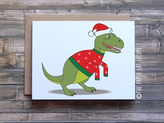 T Rex Christmas.Funny Christmas Card T Rex Short Arms T Rex Christmas Card Dinosaur Christmas Card Funny Xmas Card Funny Holiday Card