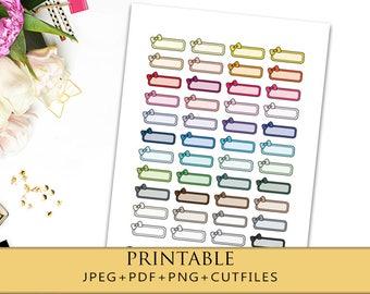 glitter labels quarter box printable planner stickers for erin etsy