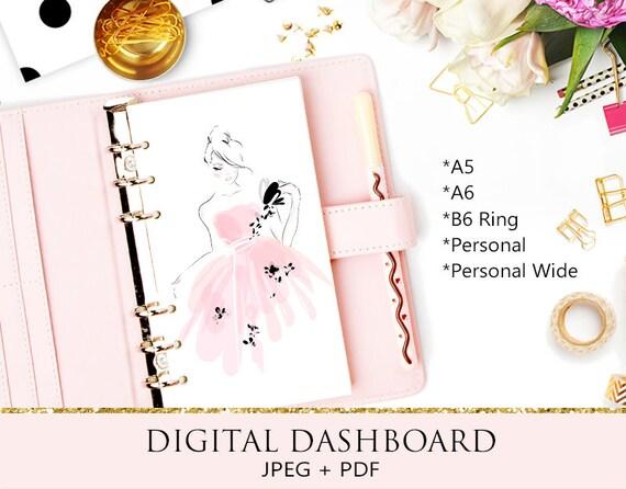 Digital Dashboards RINGS Printable A6 Rings Personal Wide Personal Rings Printable Dashboards Mouse Ears A5 Rings B6 Rings