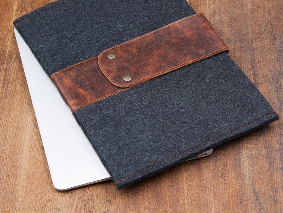 Leather Cover for Dell Xps 13 15 2 in 1 Dell xps case bag sleeve cover for 9300  9380 9500 9365 9570 9700 9370 Gray Felt Dell Xps 13 case