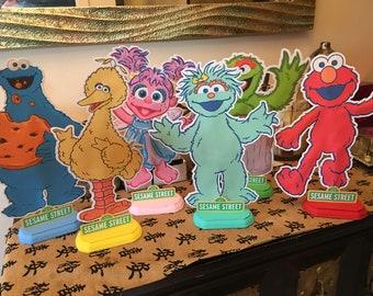 "12"" Sesame Street centerpieces"