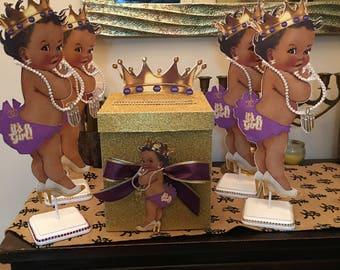 4 Royal baby girl  princess centerpiece & cardbox