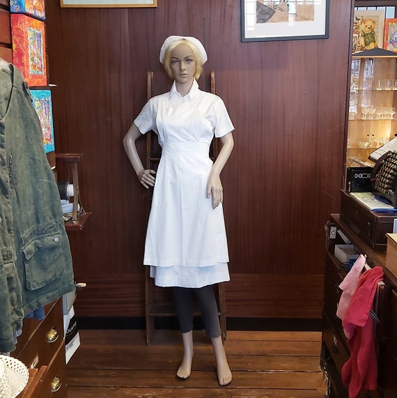Nurse uniform, 1960s nurse uniform, 5 parts unifor