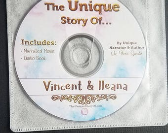 Electronic Book Version-Unique children's personalized movie e-book saying child and parents name