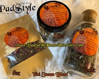 Organic YONI STEAM HERBS| Vagina Detox| Herbs used for Vagina Steaming | 8oz, 16oz, & 24oz | Vagina Steam Herbs| Yoni Steam| V Steam| Yoni