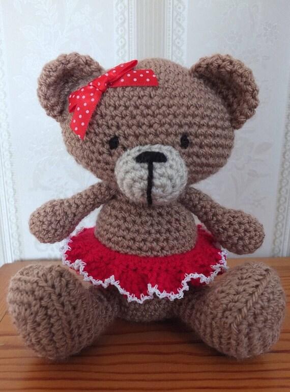 Tutu Teddy Bär mit Handarbeit häkeln Amigurumi Teddybär | Etsy