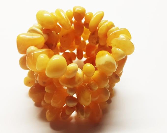 Natural Baltic amber bracelet 45g