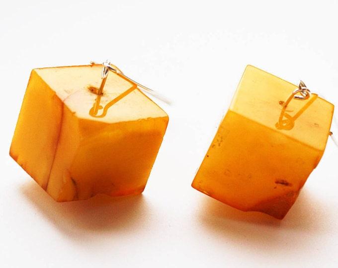 19g. Chunky Baltic amber earrings