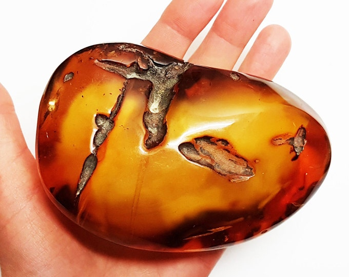 220g Perfect for amber collectors!!! Huge Baltic Amber, Amber Stone,HugeAmber Stone, Butterscotch, Antique Amber