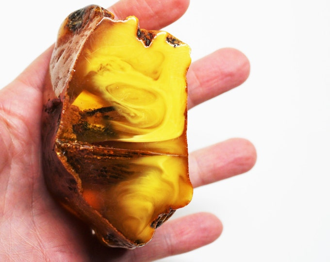 108,5gHuge Natural Baltic Amber Stone, Natural Inclusion, Raw Amber, Untreated Amber, Genuine, Natural Amber
