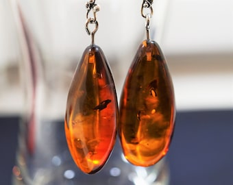 Large 11g Cherry Baltic Amber Earrings