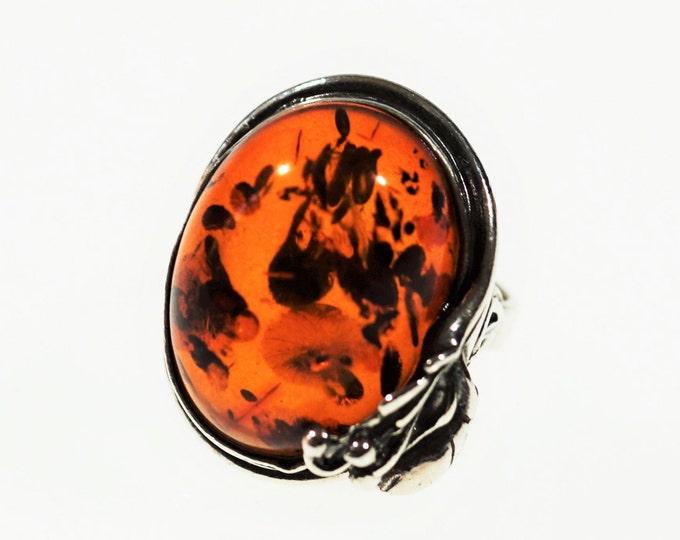 Vintage amber Ring 6.7g.