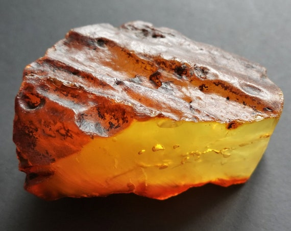 43,7g. Raw Amber Stone, Raw Amber Piece, Untreated Amber Stone, Yellow/Butterscotch Amber