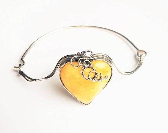 14g Genuine Baltic Amber Bracelet, Sterling Silver, Yellow/White Amber Bracelet, Not Modified Amber