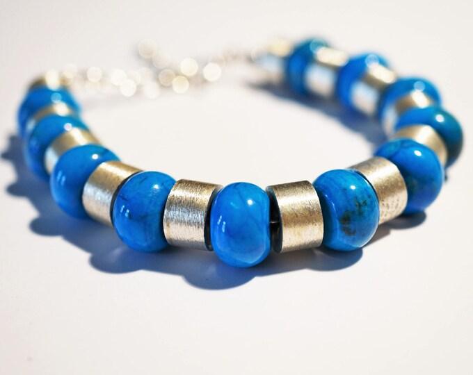 Handmade Sterling Silver Turquoise  Bracelet 42g