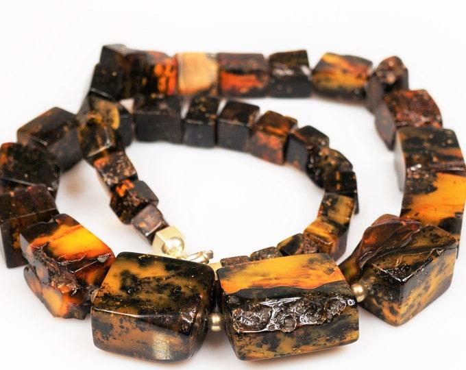 187g. Huge Necklace Natural Baltic Amber