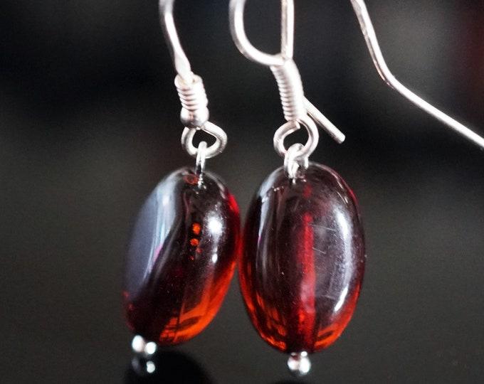 2,5g. Cherry Baltic Amber Earrings
