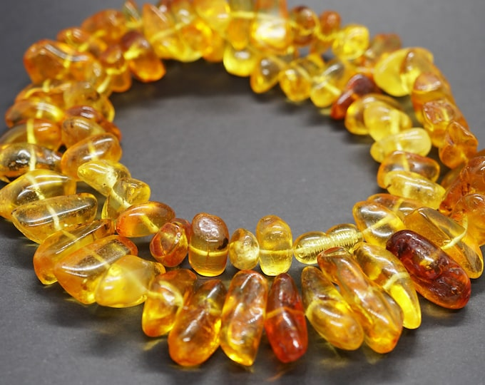 55g Yellow Baltic Amber Necklace, Natural Baltic Amber