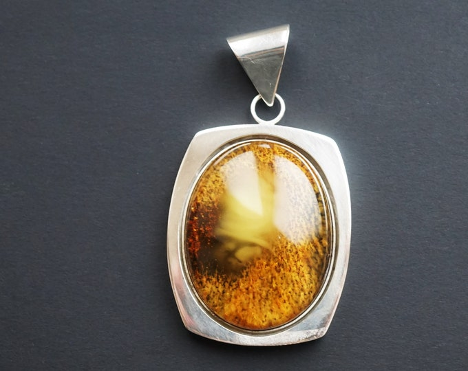 21,3g Butterscotch/Yellow  Baltic Amber Pendant, E.Salwierz Design, Natural Amber Pendant, Genuine Amber