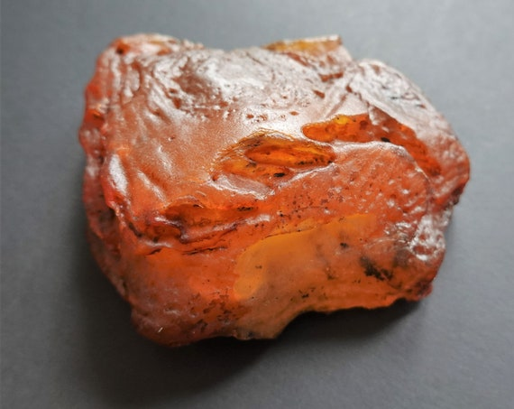 68,7g. Raw Amber Stone, Raw Amber Piece, Untreated Amber Stone, Yellow/Butterscotch Amber
