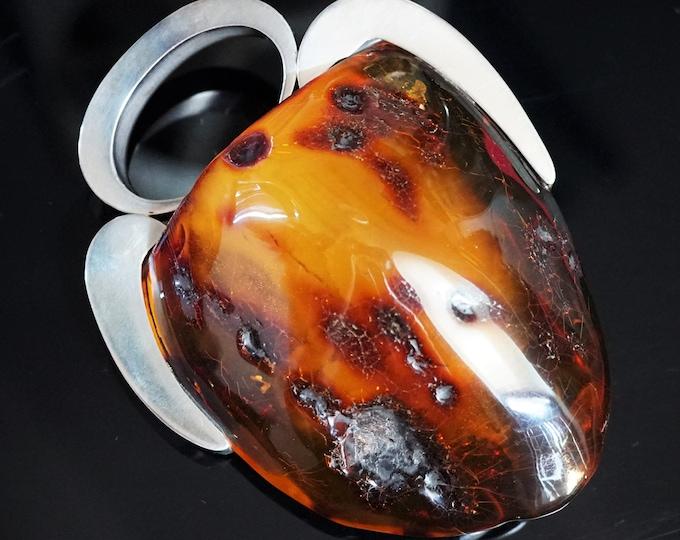 196g. Huge Unique Baltic Amber Pendant/Necklace, E. Salwierz Design Jewellery