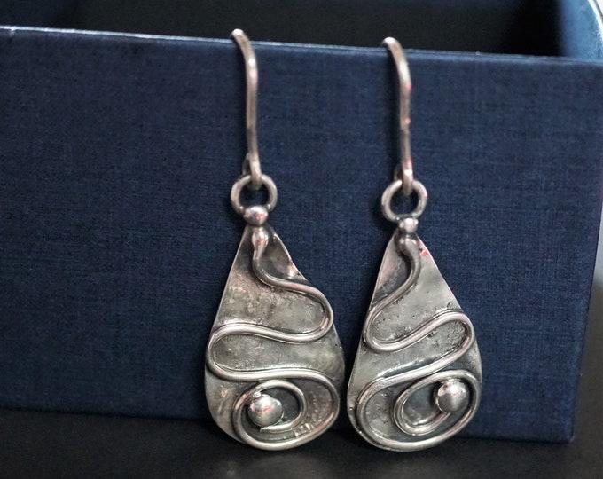 12g. Handmade Sterling Silver Earrings, Artistic Earrings