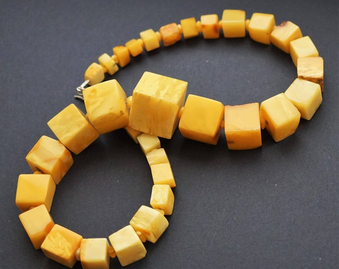 Featured listing image: 83g.Natural Baltic Amber Necklace, Genuine Amber Necklace, Butterscotch Amber, NOT Modified Amber