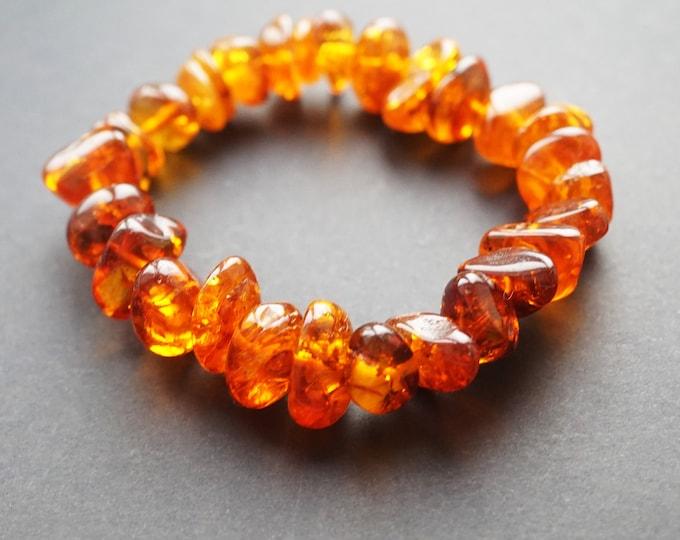 20g.Yellow Baltic Amber Bracelet, Genuine Amber Bracelet, Beaded Bracelet, Amber Beads, Organic, Natural