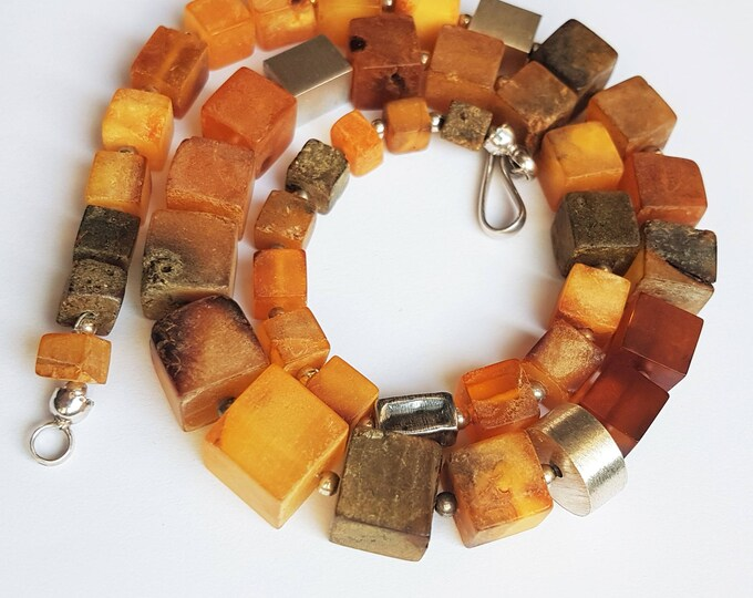 42g.Natural Baltic Amber Necklace, Genuine Amber, Not Modified Amber, Gift for Him, Gift for Her